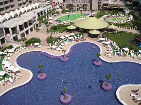 Barcelo Royal Beach Hotel pools and gardens