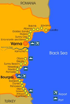 map of bulgaria black sea coast Bulgaria Holiday Apartments To Let Sunny Beach Holiday Homes For map of bulgaria black sea coast